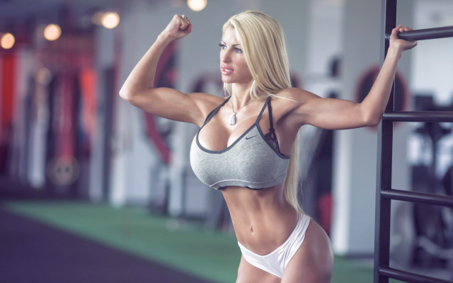 Big Busty Nude In The Gym 51