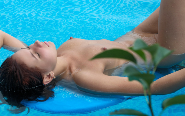 wet hard naked nipples