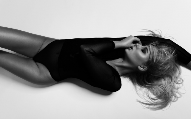 2048x1365 pix. Wallpaper top view, one-piece, leotard, closed eyes, monochrome, sexy