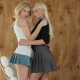 franziska facella, francesca, emma mae, blonde, skirt, schoolgirls, non nude wallpaper