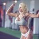 blonde, boobs, big boobs, gym, wet, fitness, busty fitness girl wallpaper