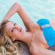 allie leggett, pool, bikini, model, blue bikini wallpaper