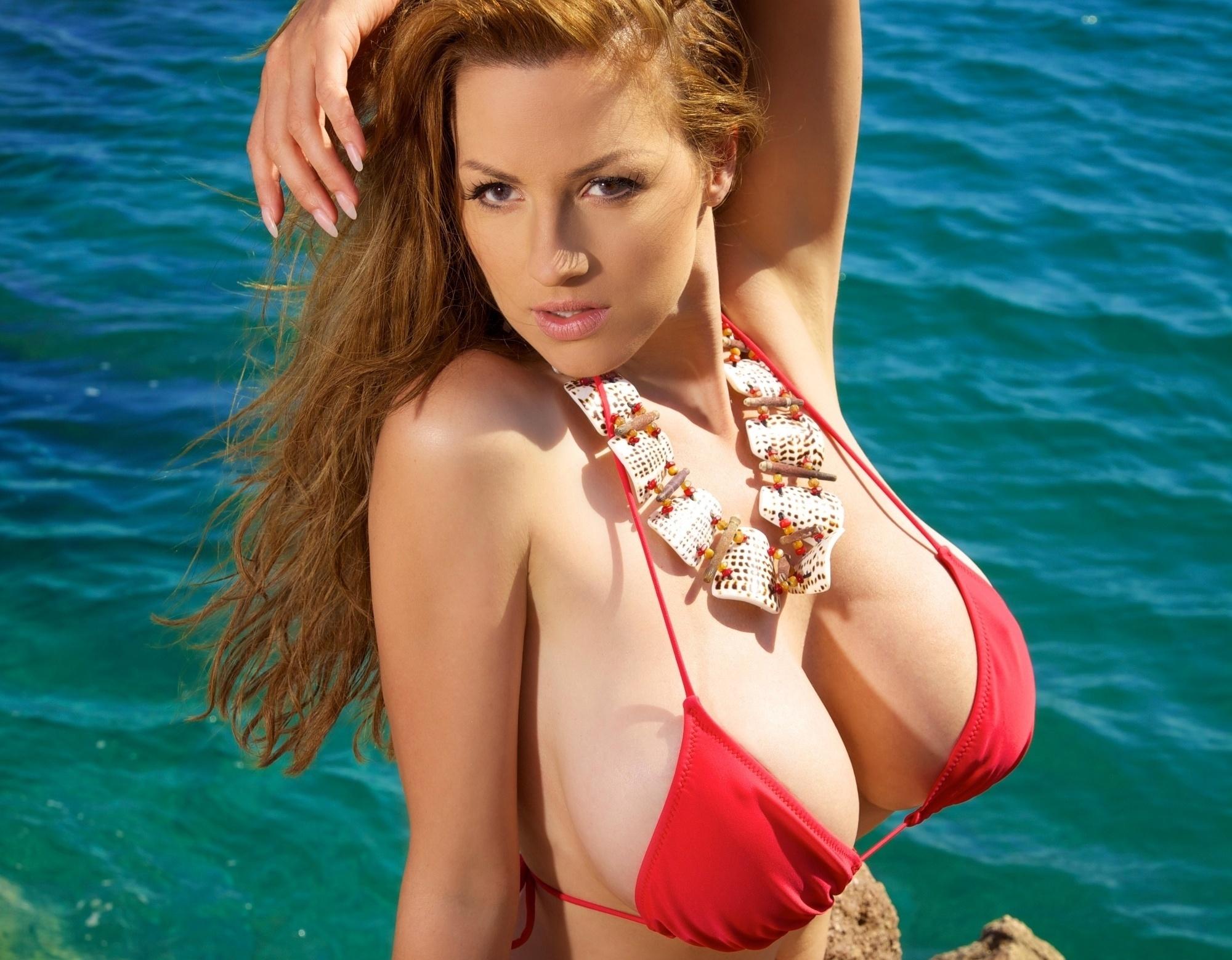 Шатенка с большой грудью 6 фотография