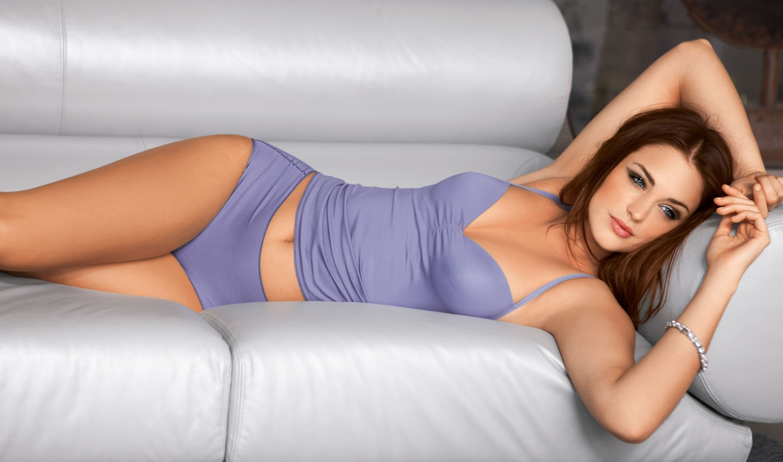 Brunette model Adele Sunshine removes skimpy shorts to pose naked № 1351216 загрузить