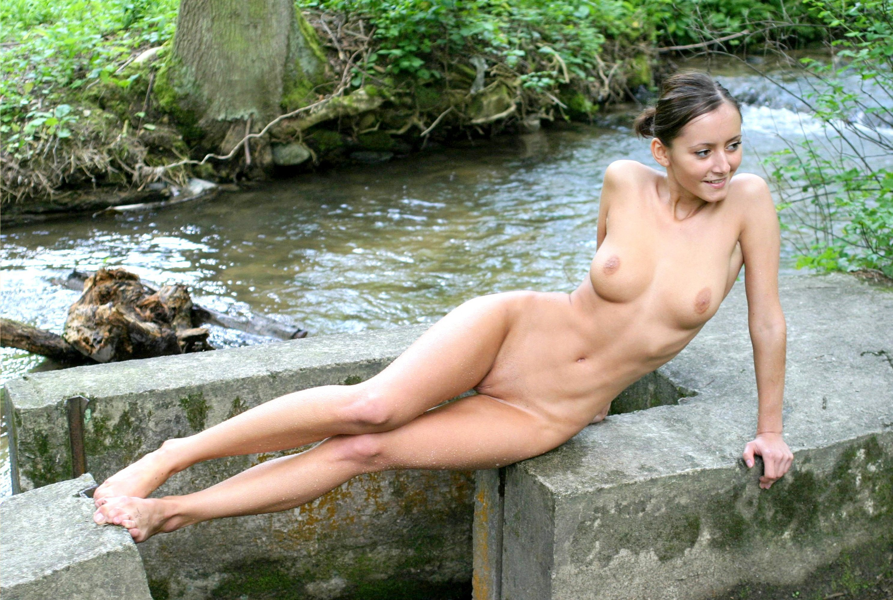 image Brunette amateur outdoor and step brother