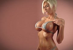 blonde, girl, big tits, bolyshoy busty wallpaper