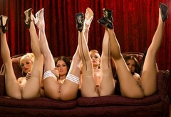 odri bitoni, pussy, women, high heels, anus, legs in the air, groups wallpaper