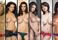 glamour, huge boobs, Keeley Hazell, Alice Goodwin, holly peers, Sammy Braddy, sophie howard, collage wallpaper