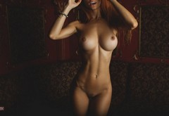 boobs, nude, no panties, aleksandr mavrin, fake boobs, no bra, open mouth, upscaled, bracelets wallpaper