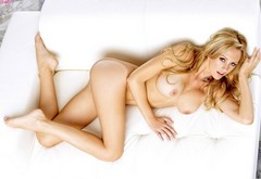 blonde, spreading legs, shaved, long hair, brett rossi, spread pussy, twisty, fake tits, solo wallpaper