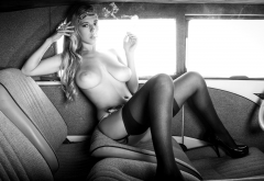 carlye denise, cybergirl, vintage voyeur, car, model, boobs, nude, big tits, stockings, cigarette wallpaper