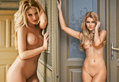 vivien sasdi, playboy, shaved pussy, tits, sexy, collage wallpaper