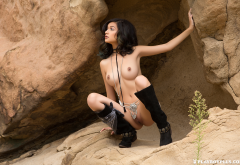 eden arya, playboy, tits, brunette, boots, shaved pussy, sexy wallpaper