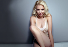 scarlett johansson, blonde, actress, sexy wallpaper