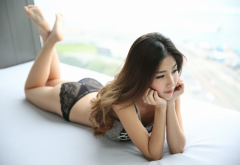 ohly, atita wittayakajohndet, asian, model, thailand, feet, black panties, sexy ass wallpaper