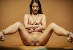 melisa mendiny, adrianna, alma b, carrie du four, kristina walker, spread legs, trimmed pussy, tits, tanned, brunette, labia wallpaper