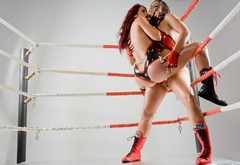 Bianca Beauchamp, models, boots, aria giovanni, wrestling, ring, leather, fight wallpaper