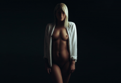 blonde, tits, nipples, tanned, flashnmodels wallpaper