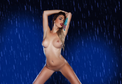 wet, boobs, big tits, tattoo, shaved pussy, brunette, hot wallpaper