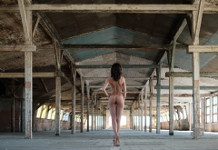 ass, back, high heels, the gap, abandoned, nude wallpaper