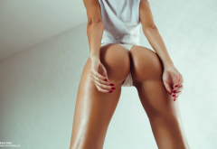 women, ass, tanned, white panties, hot ass wallpaper