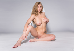 laury, shaved pussy, boobs, big tits, sexy, naked wallpaper