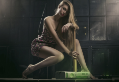 xbox 360, legs, blonde, women, model, barefoot wallpaper