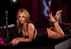 beauty, pose, playboy, jessica dawn, mikrofon wallpaper