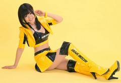 sexy, boots, asian, pvc, toshimi takahashi, race queen, top queen wallpaper