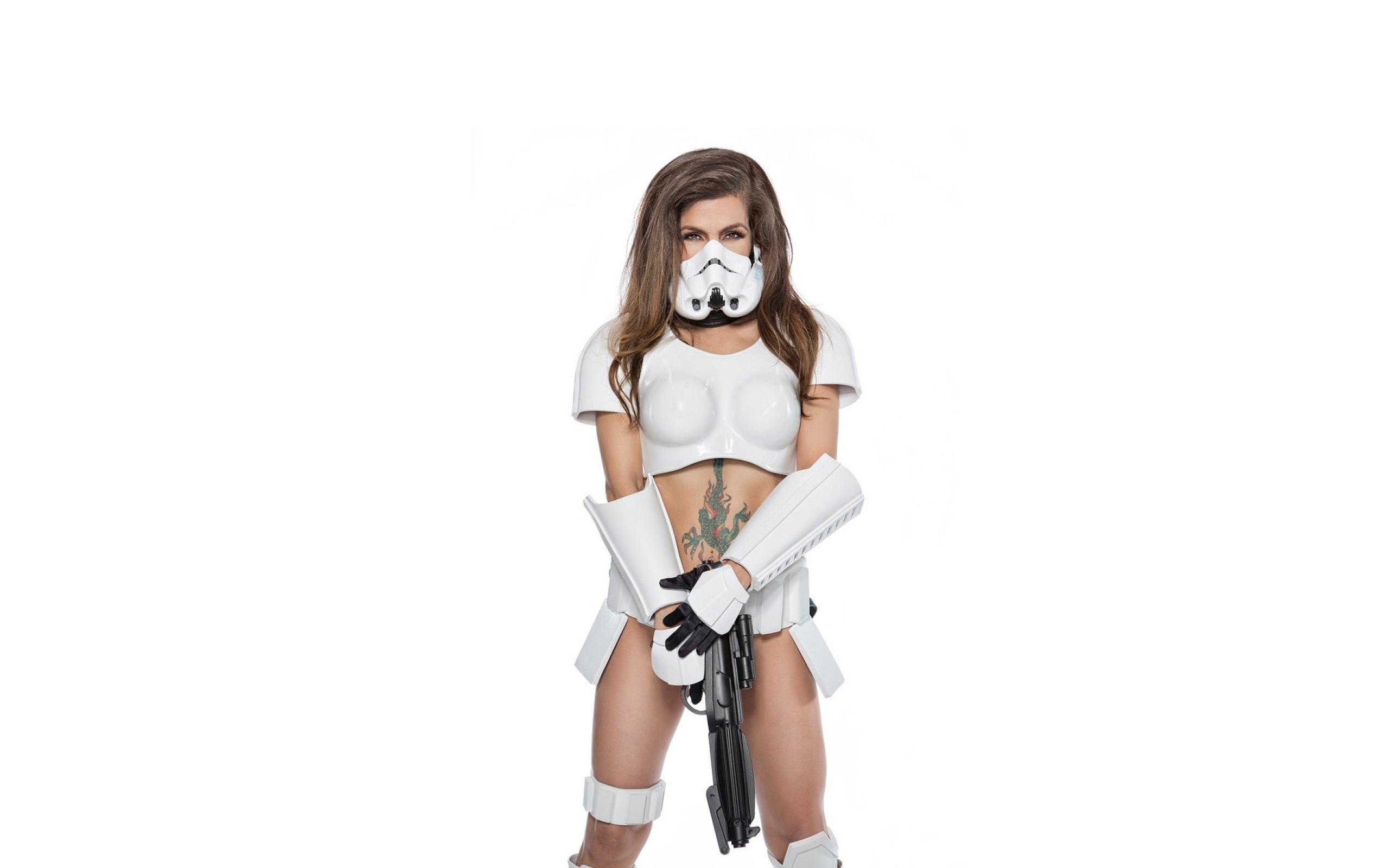 Download 2560x1600 star wars, costume, model, tattoo