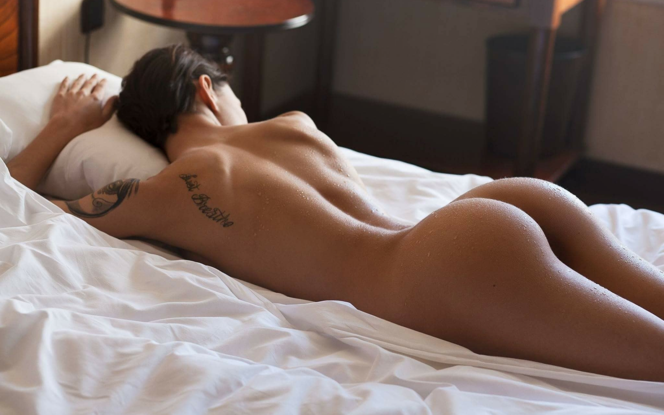 Naked on bed ass up #9