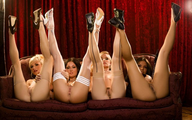 1680x1050 pix. Wallpaper odri bitoni, pussy, women, high heels, anus, legs in the air, groups