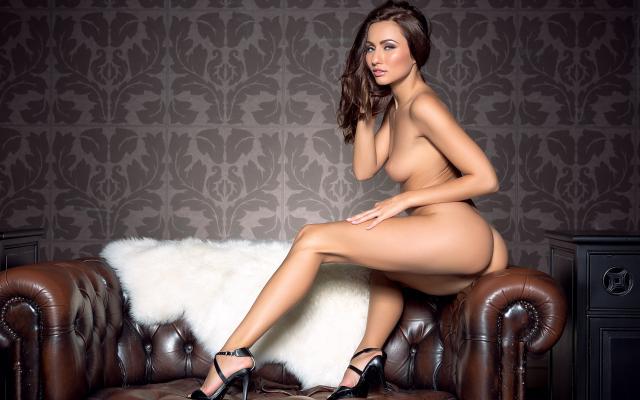 heels nude high Playboy