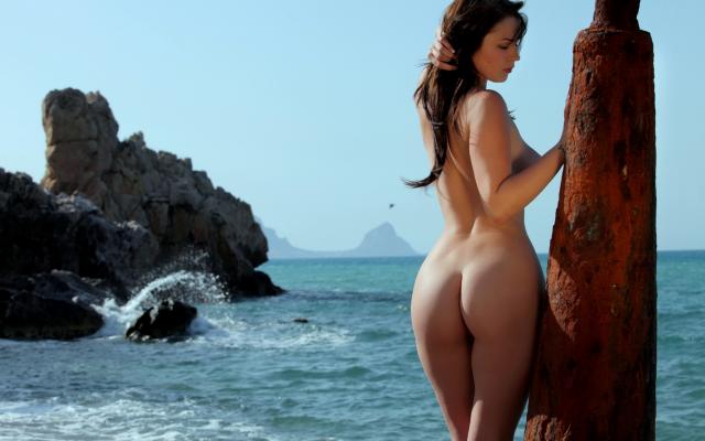 Nude beach big boobs