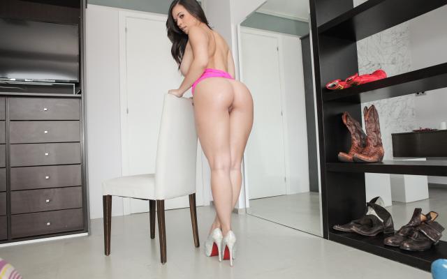 Nude high heels Latinas