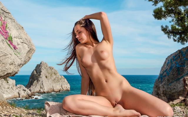Nude women smoking pot