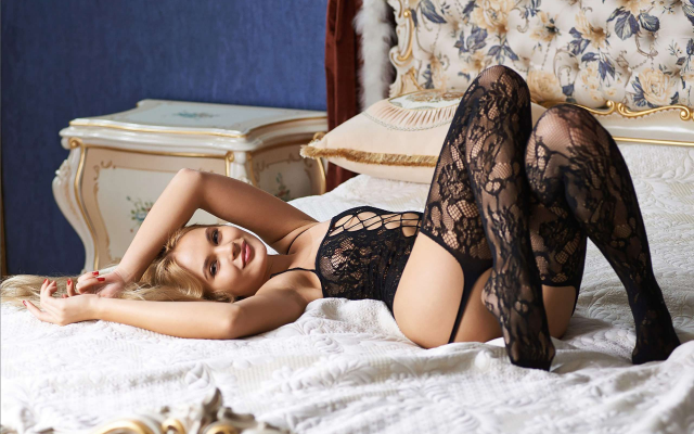 2560x1646 pix. Wallpaper talia, black lingerie, stockings, legs, smiling, sexy, lingerie series