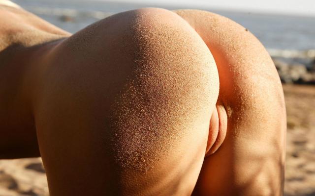 Photo Hot Ass, Sandy Ass, Sand, Pussy, Labia, Beach, Porno -7034