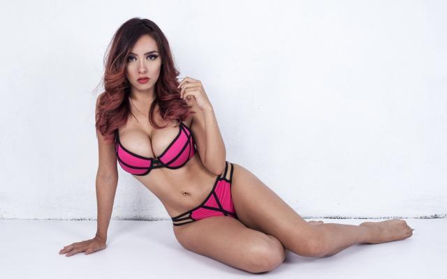 Bikini boob busty tit