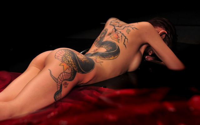 2560x1794 pix. Wallpaper nude, tattoo, ass, brunette