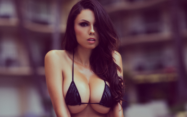 Bikini boobs wallpaper
