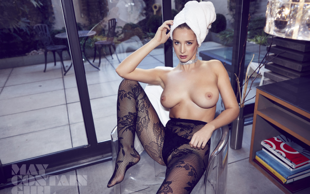 4000x2667 pix. Wallpaper emily agnes, pantyhose, topless, boobs, big tits, black panties, lingerie