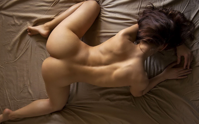 1920x1080 pix. Wallpaper naked, doggy style, ass, sexy ass, brunette