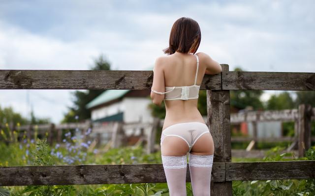 White Panties Stockings