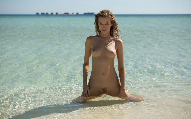 2739x1826 pix. Wallpaper olivia preston, playboy, wet, sea, beach, ocean, naked, tanned, trimmed pussy, tits, boobs, nipples