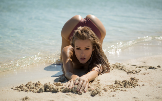 2739x1826 pix. Wallpaper olivia preston, playboy, beach, sea, ocean, tanned, swimsuit, brunette