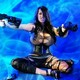 boobs, huge boobs, Leanne Crow, guns, shotguns, fishnet lingerie wallpaper