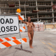 hollie berry, tits, smiling, brunette, exotic, public, road closed wallpaper
