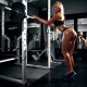 oiled, hot ass, sneakers, gym clothes, fitness model, ass, blonde, dumbbells wallpaper