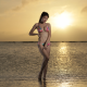 bikini, sunset, beach, sea, asian, outdoors wallpaper